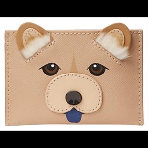 Kate spade chow chow appliqué card Holder